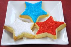 Patriotic Star Sugar Cookies