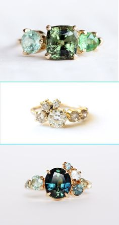 Loving Mociun rings... mix up the engagement ring!