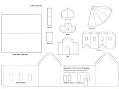 Printable House  Can Create A Whole Town  Craft Supplies