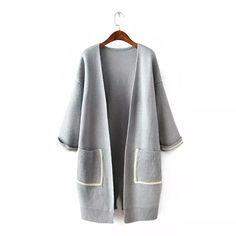 Cable Knit Cardigan, Knitwear, Kimono Top, Blazer, Knitting, Coat, Sweaters, Jackets, Women