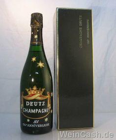 Champagne Brut Deutz Anniversaire 150 Champagne Deutz, Most Favorite, Drinks, Bottle, Glass, Big Houses, Bubbles, Wine, Flasks