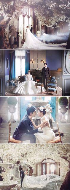 Korean Studio Pre-Wedding Photography: Bong Studio - 2016 Romantic Vintage, Floral