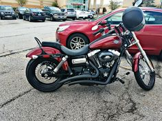 2017 Harley-Davidson Wide Glide with Black Big Curve Radius Exhaust Pipes