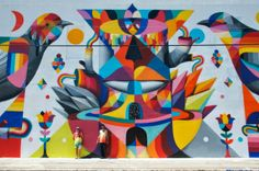 Street Art News: Remed x Okuda New Mural - Wynwood, Miami