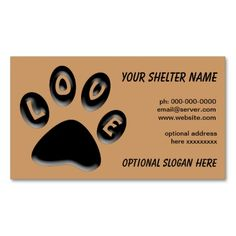 Paw print pet shelter rescue business card pet shelter business paw print business card for shelters rescue vet colourmoves