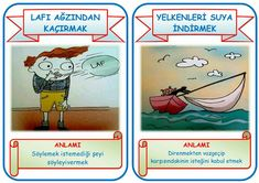 Deyimler  ( eğitimhane iskender07 öğretmenimizin çalışmasıdır ) Mobile App, Baseball Cards, Education, Comics, School, Illustration, Poster, Illustrations, Mobile Applications