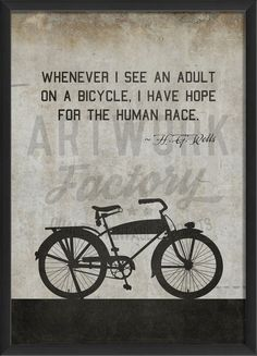 Bicycle HG Wells on white lg