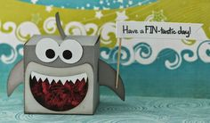 Cute Shark box...no tutorial but I thought it was too cute not to pin!