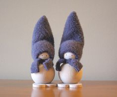 Minimalist Gray Mini Tonttu Pair Elves Christmas by FinnishChristmas on Etsy Elf Christmas Decorations, Christmas Elf, World Thinking Day, Table Centerpieces, Elves, Finland, Edc, Table Centers, Centerpieces