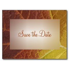 Shades of Autumn Save the Date Announcement Post Card