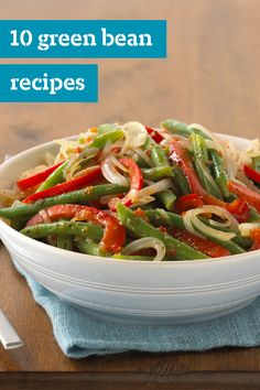 10 Green Bean Recipes – Who said it wasn't easy being green? It is for green beans—enjoyed year-round in every recipe from layered picnic salads to potluck favorites. Try out these side dishes featuring this delicious vegetable!