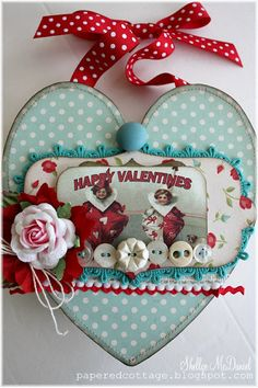 Be My Vintage Valentine...  //  this looks like something Hannah would like ...with the polka dots...