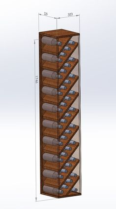 DIY wine rack to fill space next to fridge (updated) Post with 11397 views. DIY wine rack to fill space next to fridge (updated) Wine Shelves, Wine Storage, Crate Shelves, Record Storage, Storage Rack, Wine Rack Inspiration, Interior Inspiration, Unique Wine Racks, Diy Wine Racks