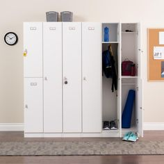 Prepac Elite Locker - White - Bring storage and organization to the mudroom with the Prepac Elite Locker - White. Constructed of wood and featuring a white laminate finish, thi...