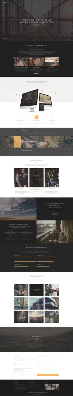 Quadra multi concept PSD theme. It has 7 completely different home pages can be customized easily to suit your website.