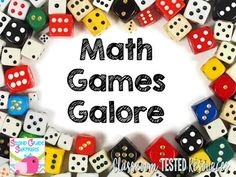 Classroom Tested Resources: Math Games Galore--FREEBIE!!!