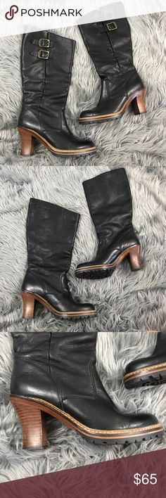 Frye Mildred Engineer Pull Leather Boots Great preowned condition. Frye Shoes Heeled Boots