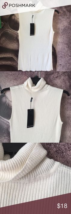 Daisy Fuentes Turtle Neck Top City central-lurex turtle neck top by Daisy Fuentes. Color is Winter White. NWT 81% Rayon 19% Polyester. Daisy Fuentes Tops Tunics