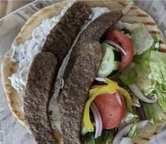 When in doubt, a classic gyro sandwich hits the spot! 👍 Urban Olive and Vine, in Hudson, Wisc., plates up one pretty gyro sandwich on Kontos pita. 🤗 #GYRO #SANDWICHES Olive And Vine, Food Inc, Pita Bread, Sandwiches, Tacos, Porn, Urban, Foods, Plates