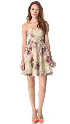 Paul & Joe Sister Contess Dress with a lavish floral print for your afternoon garden wedding rehersal.