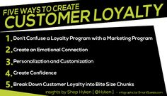 Five Ways to Create Customer Loyalty - Shep Hyken Customer Service Quotes, Customer Service Experience, Good Customer Service, Loyalty Quotes, Customer Engagement, Emotional Connection, Marketing Program, Success Quotes, Insight