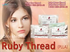 PLLA Thread lifting ◈ Ruby Thread (PLLA) ◈ ▷Ruby Cog Thread : 1 PACK / 10EA (2PCS x 5) ▷Ruby Mono Thread : 1 PACK / 20EA (4PCS x 5) ▷Ruby Screw Thread : 1 PACK / 20EA (4PCS x 5) ★Effect : Lifting & Wrinkles Removal