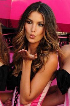 I love simple hair- fab victoria secret brown