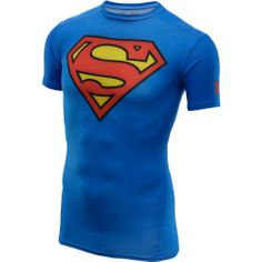 Haha, this would be fun - Mens Under Armour Superman Compression Shirt Blue Size Small Under Armour