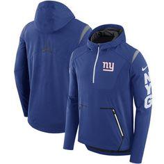 30171a7bafb New York Giants Nike Sideline Alpha Fly Performance Half-Zip Pullover Jacket  - Royal Green