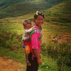 Hmong hiking guide and son, Sapa, Vietnam Sa Pa, Hiking Guide, Mountain S, Trekking, Vietnam, Sons, Explore, My Son, Boys