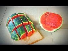 COME TAGLIARE E SERVIRE IL COCOMERO ancora un paio di idee - Awesome Way to Cut Watermelon - YouTube