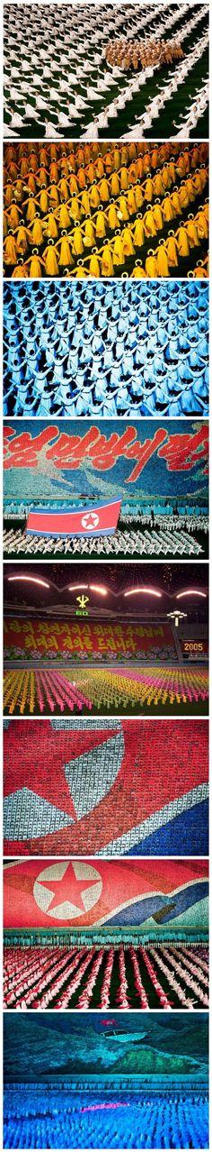 N. Korea Mass Games with 100,000 Human Pixels