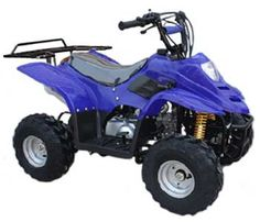 KYMOTO Series Youth 110cc ATV Solid and Spider Colors - With Rear Rack -  Fast Free