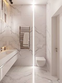 White marble / bathroom, Bathroom marble marblebathroomdecor White 618330223824223725 in 2020 Bathroom Design Luxury, Modern Bathroom Design, Home Interior Design, Modern Master Bathroom, Small Bathroom, Master Bathrooms, Bathroom Ideas, White Marble Bathrooms, Bathroom Inspiration