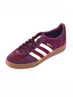 Adidas Originals Gazelle Stripe Runner Burgundy. Shop now! - http://heroes