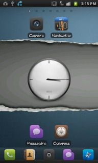 Gray Blue Clock For Android Theme Mobile Theme HTC mobile theme.