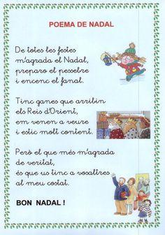 Poema M'AGRADA EL NADAL My First Christmas, Winter Christmas, Christmas Time, Christmas Tree Ornaments, Christmas Crafts, Motivational Phrases, Conte, Valencia, Album