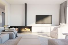 Living Room Decor Fireplace, Home Fireplace, Living Room Tv, Fireplace Design, Wood Burner Fireplace, Ethanol Fireplace, Fireplaces, Muebles Living, Freestanding Fireplace