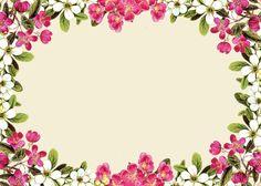 Vintage Pink | free digital flower frame png and flower frame journaling card ...