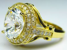 Oval Diamond Legacy Style Engagement RingIn 14K Yellow Gold - ES126YG