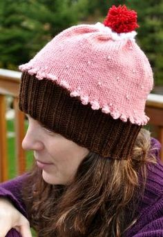 Adult Beaded Cupcake Hat/ $2.99 pattern download.