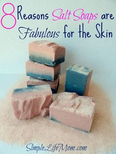 8 Reasons Salt Soap Bars are Fabulous for the Skin Salt Soap Bars or Spa Bars are fabulous for the skin. Salt Soap has great oils, minerals, is exfoliating. Learn about the detoxing, cleansing properties. Soap Making Recipes, Homemade Soap Recipes, Homemade Products, Bar Recipes, Homemade Gifts, Homemade Cards, Homemade Beauty, Diy Beauty, Beauty Soap