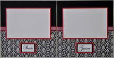 wedding scrapbook layouts black and red | This item sold on August 11, 2013.