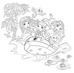 Lego Friends On A Boat Coloring Page To Print And Color