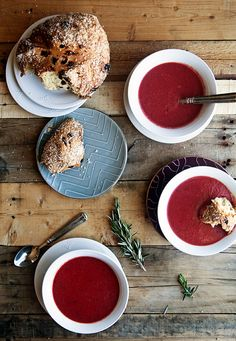 Red Lentil and Rosemary Beet Soup | Some the Wiser