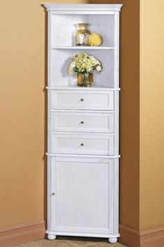 Hampton Bay Corner Linen Cabinet I - Linen Cabinets - Bathroom Cabinets - Bath | HomeDecorators.com