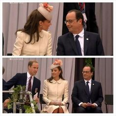 Kate and William with the President of France.
