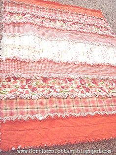 Want to make matching rag quilts for my girls.... but when?....