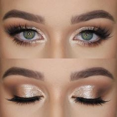 (Maybe something like this but minus the fake eyelashes haha) Makeup - Natural Eye with a little bit of shimmer