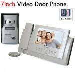 Home Security 7 inch LCD Video Door Phone Doorbell Intercom Video System Support SD Card